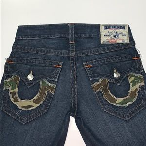 Men's Camo Stitched True Religion Jean